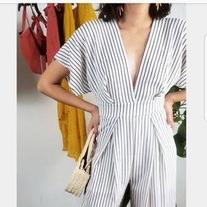 Other - 🚨LAST ONE!!//The Ivory// White Stripe Jumpsuit